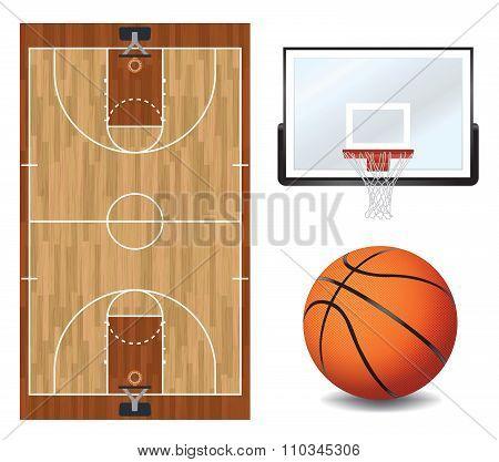 Basketball Design Elements Illustration