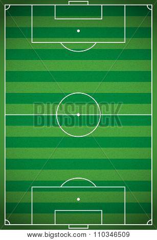 Vertical Realistic Football - Soccer Field Illustration