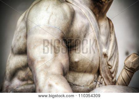 Menelao Statue Arm In Loggia Dei Lanzi