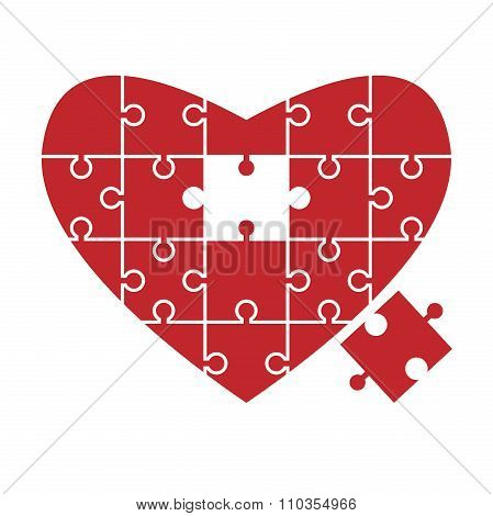 Heart Puzzle, Missing Piece