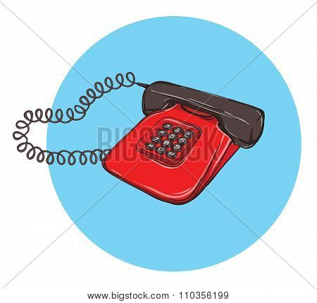 Vintage Telephone No.8, Handset On