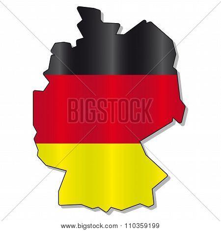 German flag map