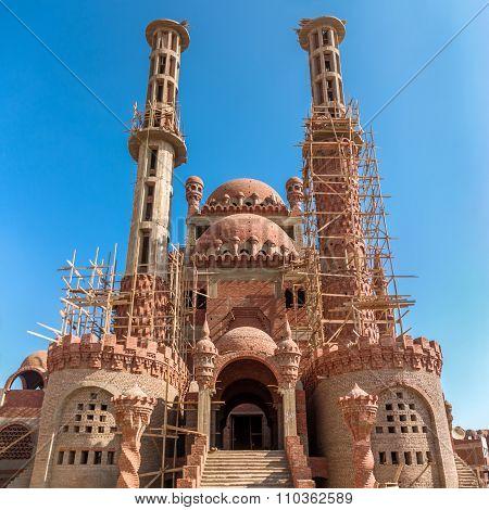New Mosque Under Construction In 2012. Sham-el-Sheikh, Sinai, Egypt.