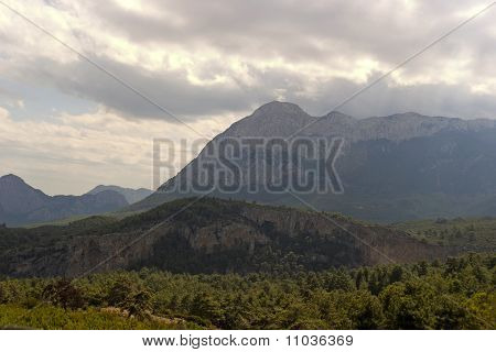 Sky, Clouds And Mountain