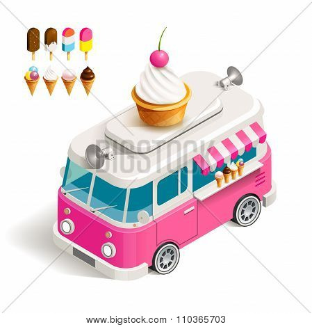 Van with ice cream