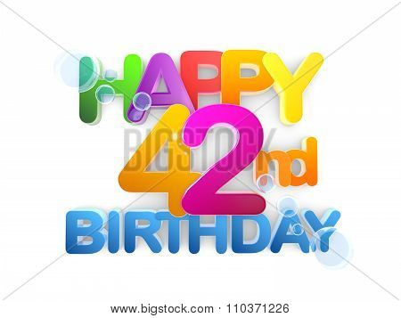 Happy 42Nd Title, Birthday Light