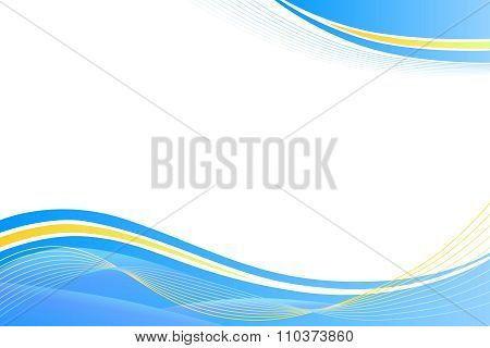 Blue yellow abstract background lines waves