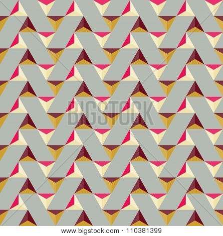 Vector Seamless Colorful Triangle Tiling Geometric Pattern