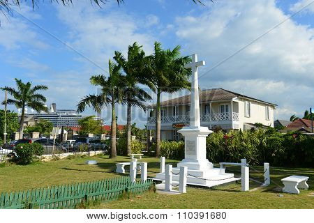 War Memorial Monument in Falmouth, Jamaica