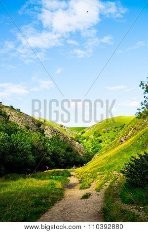 Green Hills, River Dove In Peak District National Park