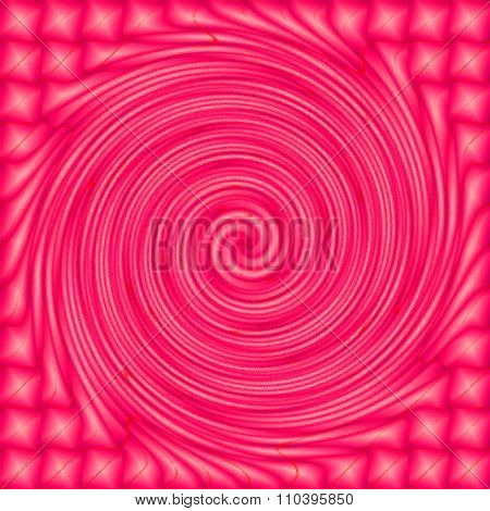 Pink psychedelic spiral