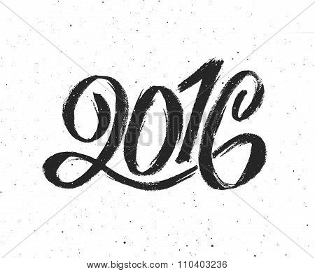 New Year 2016 vintage greeting card
