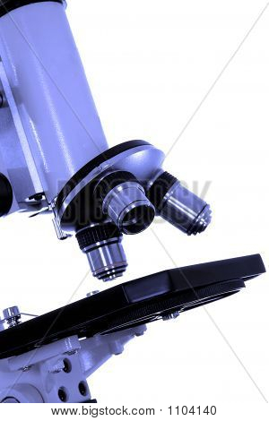 Closeup Of A Microscope