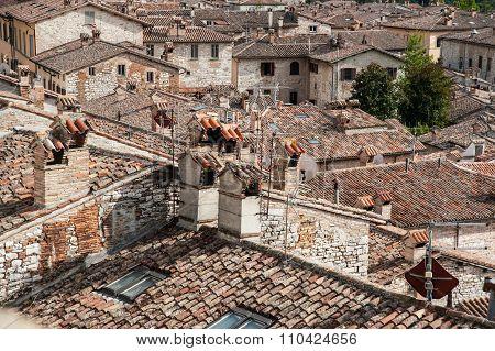 Rooftops Of Gubbio