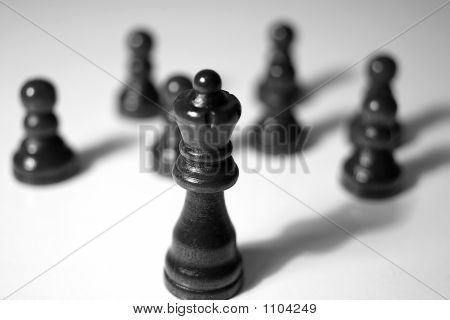 A Queen And Her Pawns