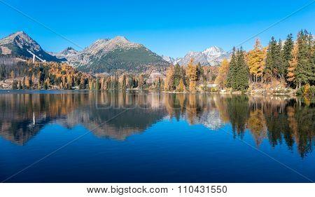 Water Reflection At Tarn Strbske Pleso, Slovakia