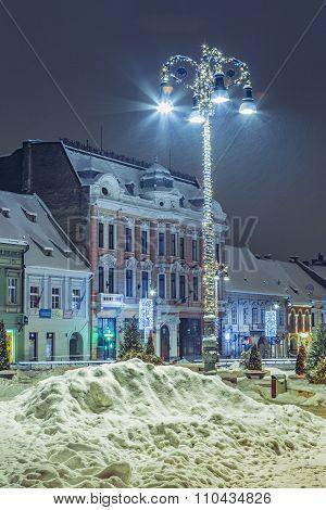 Christmas Decorated Streetlight