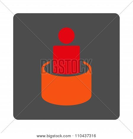 Patient Isolation Rounded Square Button