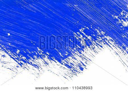 Blue Stroke Of The Paint Brush