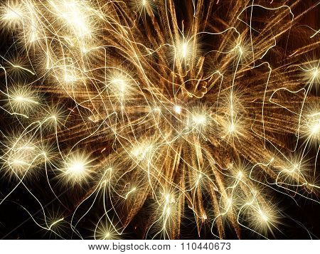 Golden Holiday Stars Abstract Background.