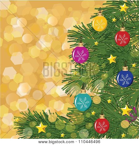 Christmas Hand-drown Vector Background