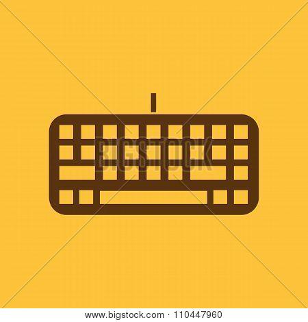 The keyboard icon. Keypad and input, typing, communication symbol. Flat