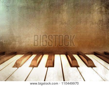 Grunge piano - retro music background