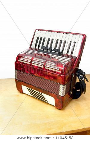 Accordion on table