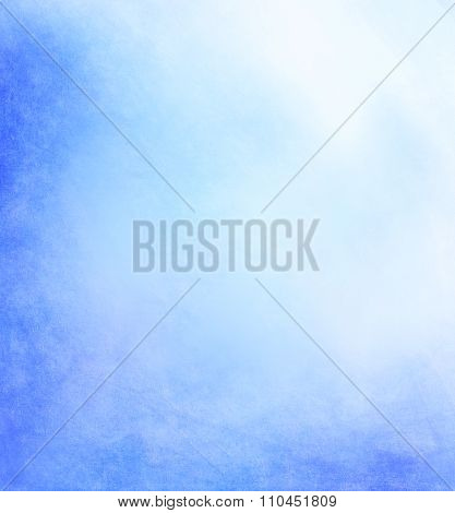 Pale Abstract Blue Background With Yellow Center And Soft Pastel Vintage Grunge Background Texture D