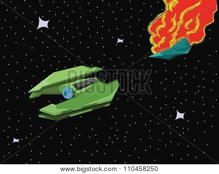 Spacecraft Space Blast