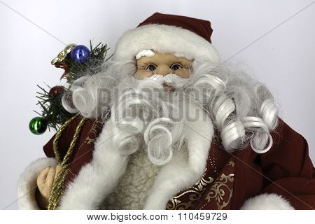 poster of fluffy toy representing Christmas ornaments made in studio