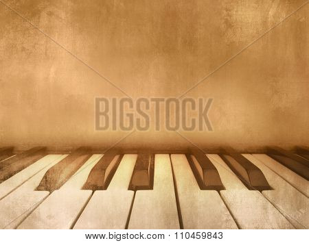 Music background vintage - piano keys