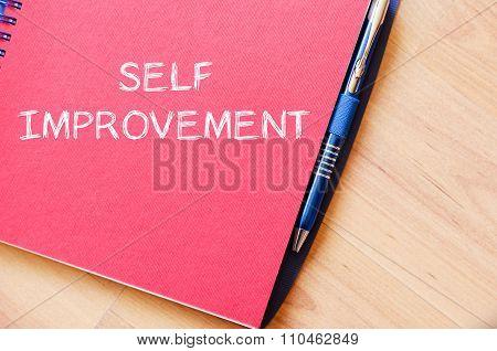 Self Improvement Write On Notebook