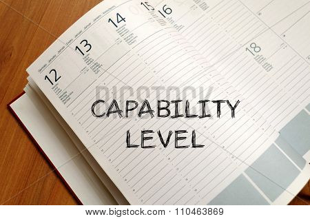 Capability Level Write On Notebook