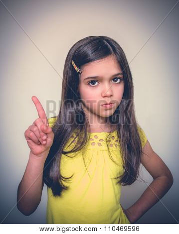 Young Girl Acting.