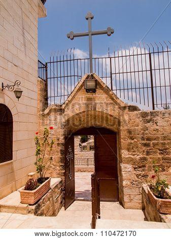 Very Old Christian Church At Burqin Arab Territories In Palestine.