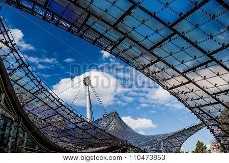 Olympic Stadion Roof, Munich, Bavaria, Germany