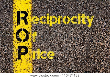 Accounting Business Acronym Rop Reciprocity Of Price