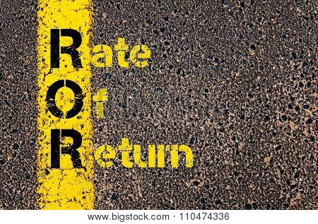 Accounting Business Acronym Ror Rate Of Return