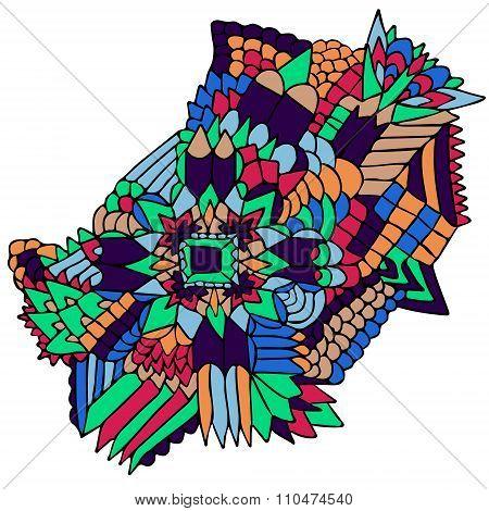 Zentangle Elements Figure Simple Colorful 2