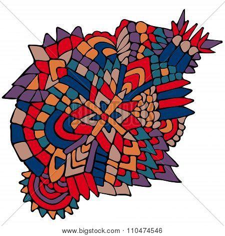 Zentangle Elements Figure Simple Colorful 3