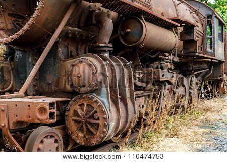 Abandoned Stream Powered Locomotive.