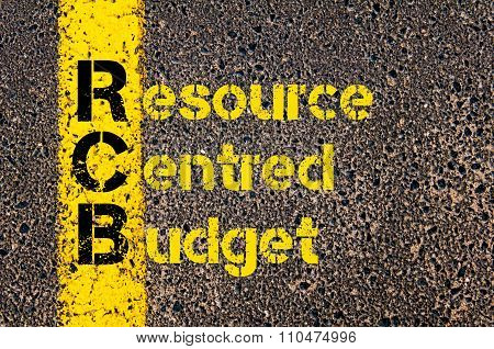 Accounting Business Acronym Rcb Resource Centred Budget