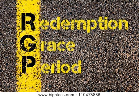 Accounting Business Acronym Rgp Redemption Grace Period