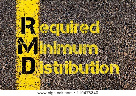 Accounting Business Acronym Rmd Required Minimum Distribution