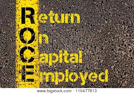 Accounting Business Acronym Roce Return On Capital Employed