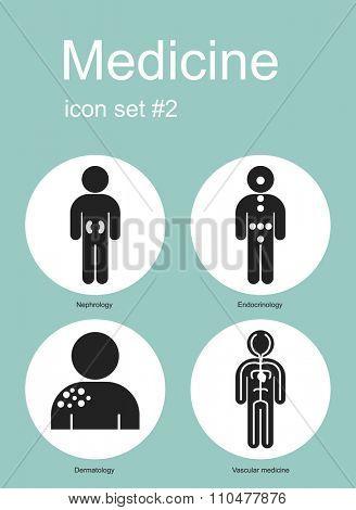 Medical icon set. Raster image.