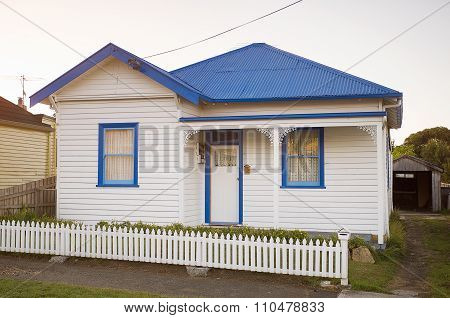 White Weatherboard House
