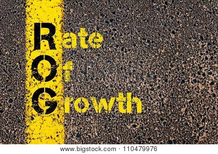 Accounting Business Acronym Rog Rate Of Growth