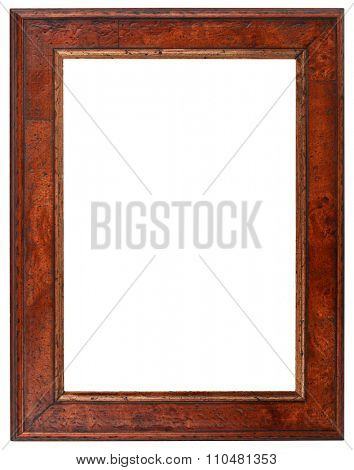 Empty Vertical Wooden Picture Frame